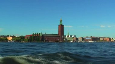 City Hall in Stockholm, Sweden — Stock Video