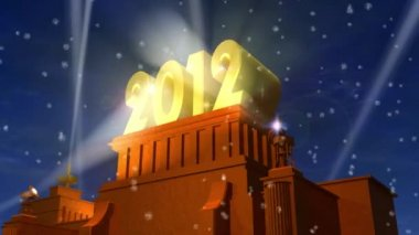 New Year 2012 celebration caption — Stock Video