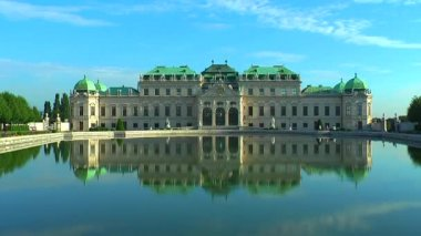 Belvedere Palace in Vienna, Austria — Stock Video