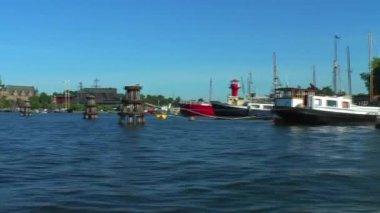 Zee cruise in stockholm, zweden — Stockvideo
