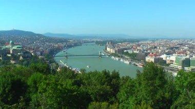 Panorama of Budapest, Hungary — Stock Video