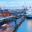 Evening view of the Port of Helsinki, Finland — Stock Photo #21110695