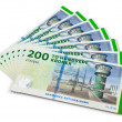 Royalty-Free Stock Photo: Stack of 200 danish krone banknotes