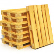 Stock Photo: Stack of wooden shipping pallets