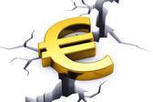 Financial crisis in European Union — Stock Photo