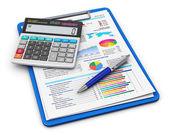 Concepto de contabilidad y finanzas empresariales — Foto de Stock