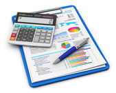 Concetto di contabilità e finanza aziendale — Foto Stock