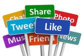 Sociala medier koncept — Stockfoto
