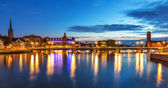 Evening panorama of Stockholm, Sweden — Stock Photo
