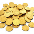Heap of golden coins — Stock Photo