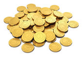 Heap of golden coins — Stockfoto
