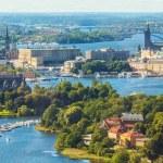 Luchtfoto panorama van stockholm, Zweden — Stockfoto