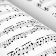 Sheet music - Foto Stock