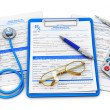 Medical insurance and healthcare concept - Stock Photo