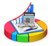 Accounting and statistics concept — Stock Photo