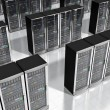 Network servers in datacenter — Stock Photo #23913597