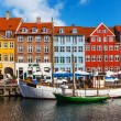 Color buildings of Nyhavn in Copehnagen, Denmark — Stock Photo #23913609