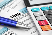 1040 uns steuerformular — Stockfoto