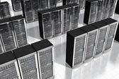 Network servers in datacenter — Stock Photo