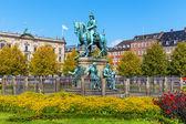 在哥本哈根,丹麦基督教 v 雕像 — 图库照片