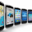 Smartphones and mobile applications — Vídeo de stock