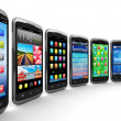 smartphones and mobile applications — Stock Photo