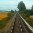 Stock Video: Driving high speed train