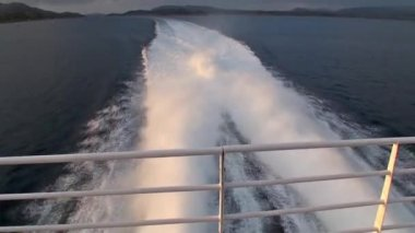 Sailing across the fjords in Norway — Stock Video