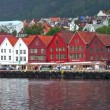 Cityscape of Bryggen in Bergen, Norway. - Stock Photo