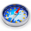 Stock Photo: Compass of Europe