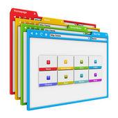 Conceito de design e internet do web site — Foto Stock