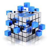 Concetto di lavoro di squadra, internet e comunicazione aziendale — Foto Stock