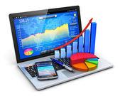 Mobiel kantoor en bancaire concept — Stockfoto