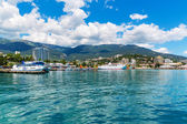 Panorama of Yalta, Crimea, Ukraine — Stock Photo