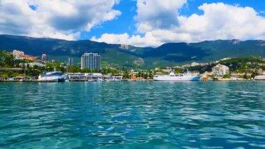 Panorama of Yalta, Crimea, Ukraine — Stock Video