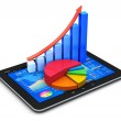 Mobile finance and statistics concept — Stock Photo