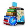 Stock Photo: Travel, tourism and GPS navigation concept