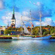 Stock Photo: Panoramof Tallinn, Estonia