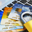 Stock Photo: Mobile banking security concept