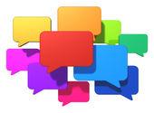 Redes sociais e o conceito de mensagens de internet — Fotografia Stock