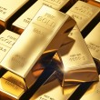 Gold ingots — Foto de Stock