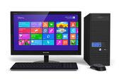 Computador desktop com interface touchscreen — Fotografia Stock