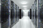 Server room in datacenter — Photo