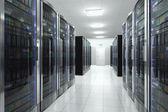 Serverhall i datacenter — Stockfoto