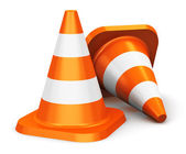 Orange traffic cones — Stock Photo