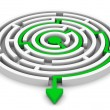 Stock Photo: Circle labyrinth