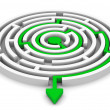 Circle labyrinth — Stock Photo
