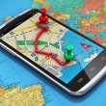 koncepcja GPS żegluga, Podróże i turystyka — Zdjęcie stockowe