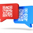 QR code communication concept — Stock Photo #31626583