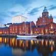 Evening scenery of Helsinki, Finland — Stock Photo